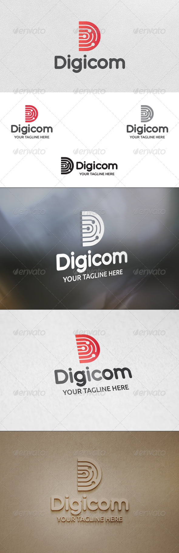 GraphicRiver Digicom Letter D Logo Template 5773609