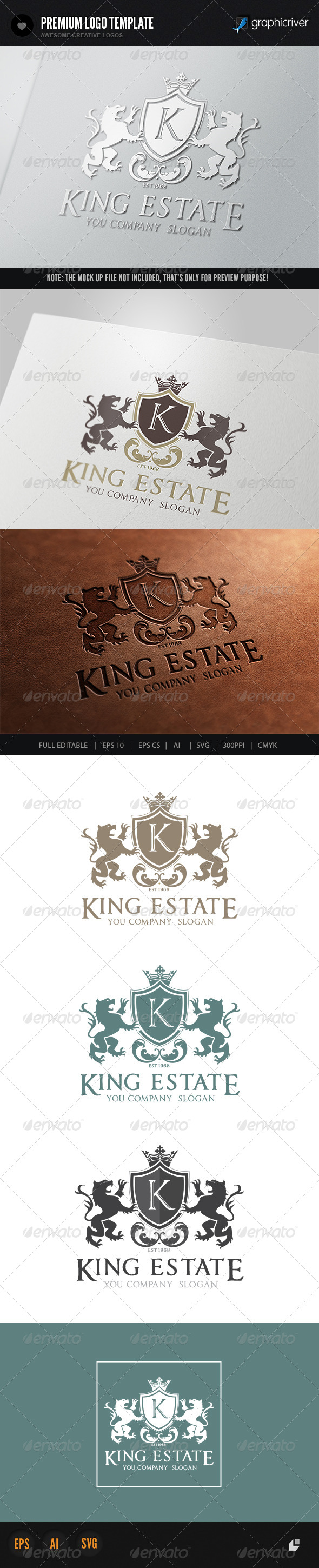GraphicRiver King Estate Logo 5774048