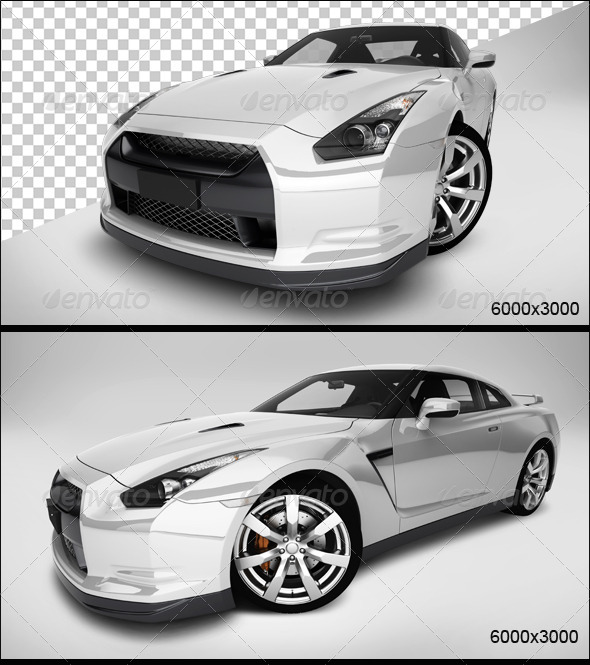 GraphicRiver White Car 3 5774325