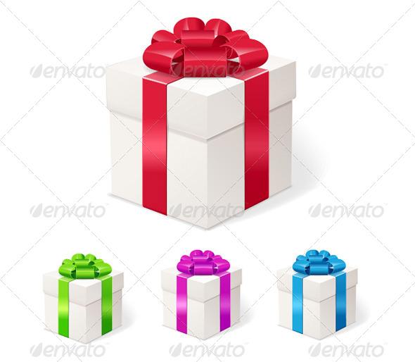 GraphicRiver White Gift Boxes Set 5774735