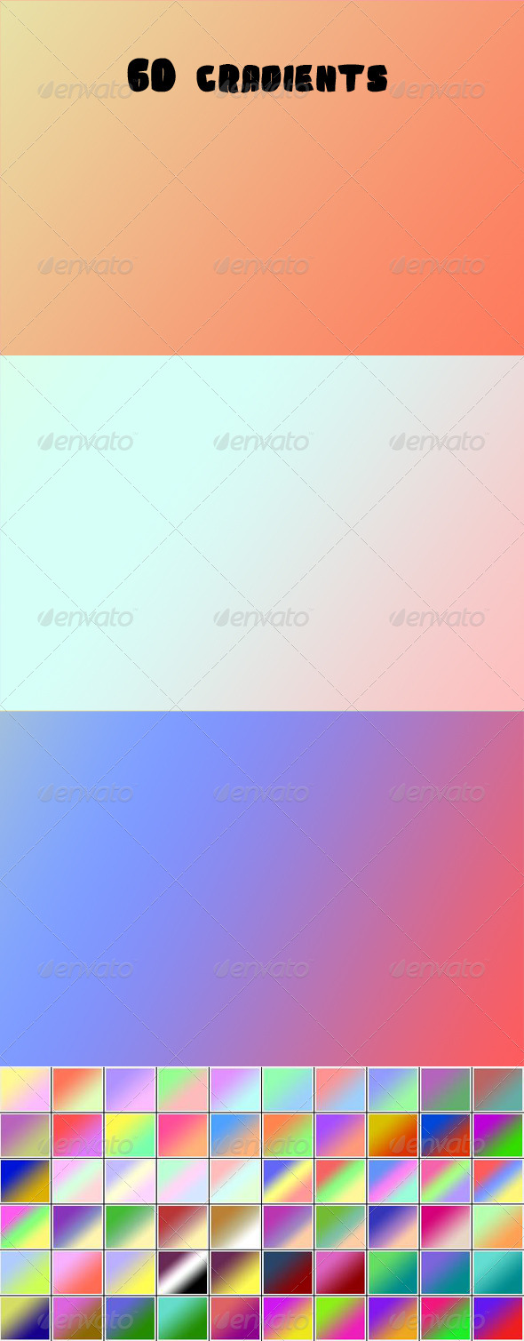 GraphicRiver 60 Gradients 5774763