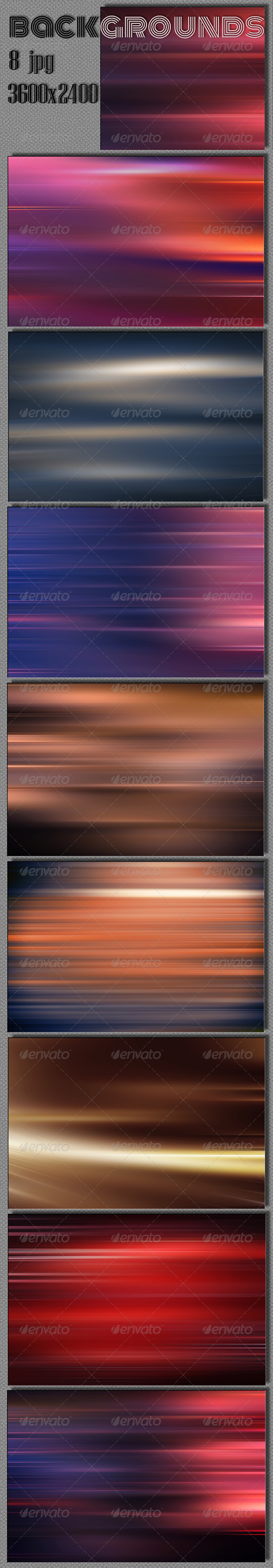 GraphicRiver Blurred Lines Backgrounds 5774779