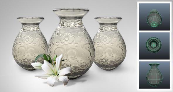 Glass Vase - 3DOcean Item for Sale