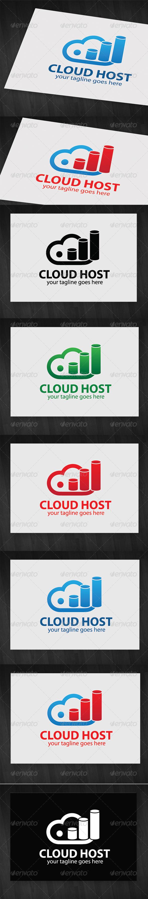 GraphicRiver Cloud Host Logo 5774907