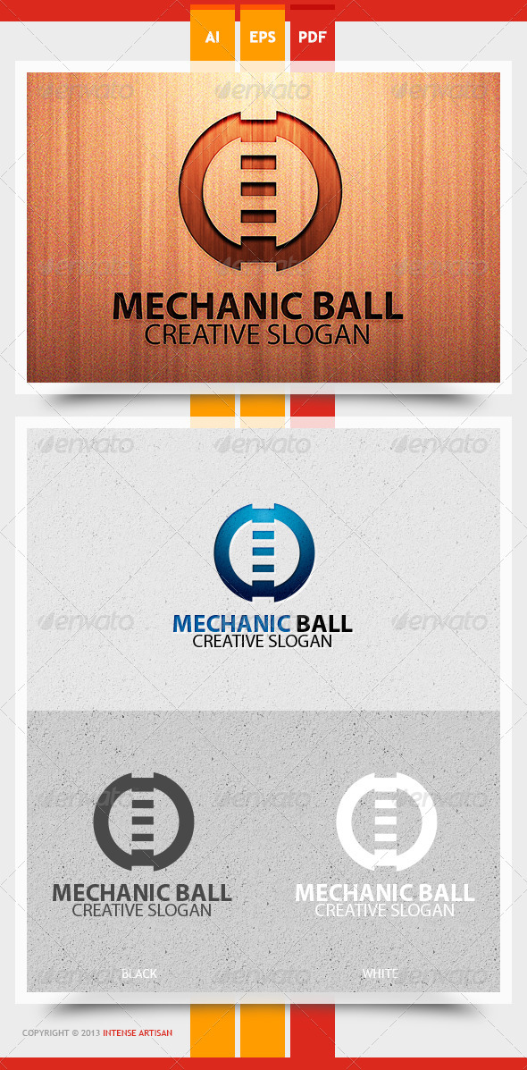 GraphicRiver Mechanic Ball Logo Template 5775162
