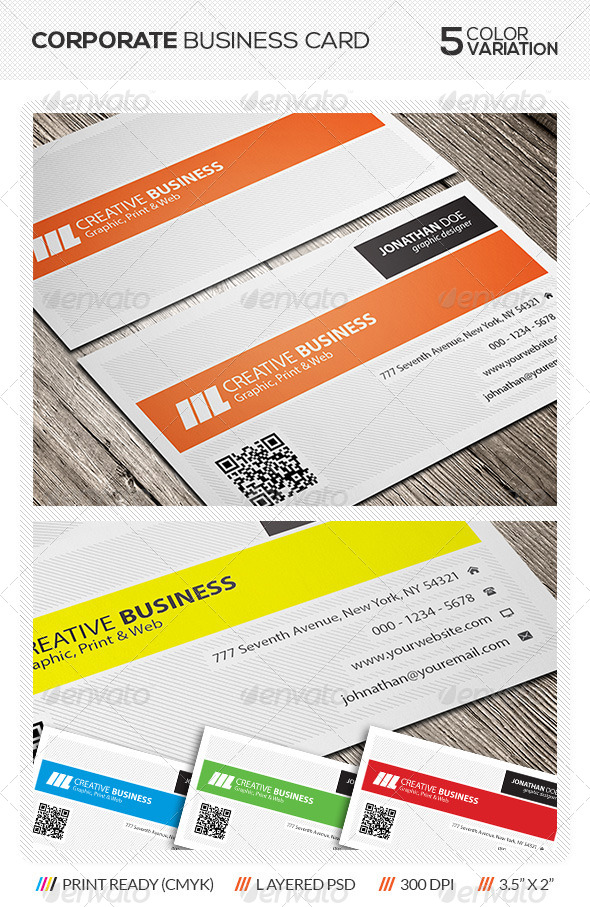 GraphicRiver Corporate Business Card 5775178