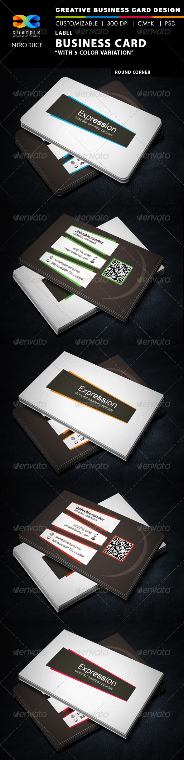 GraphicRiver Label Business Card 5775415