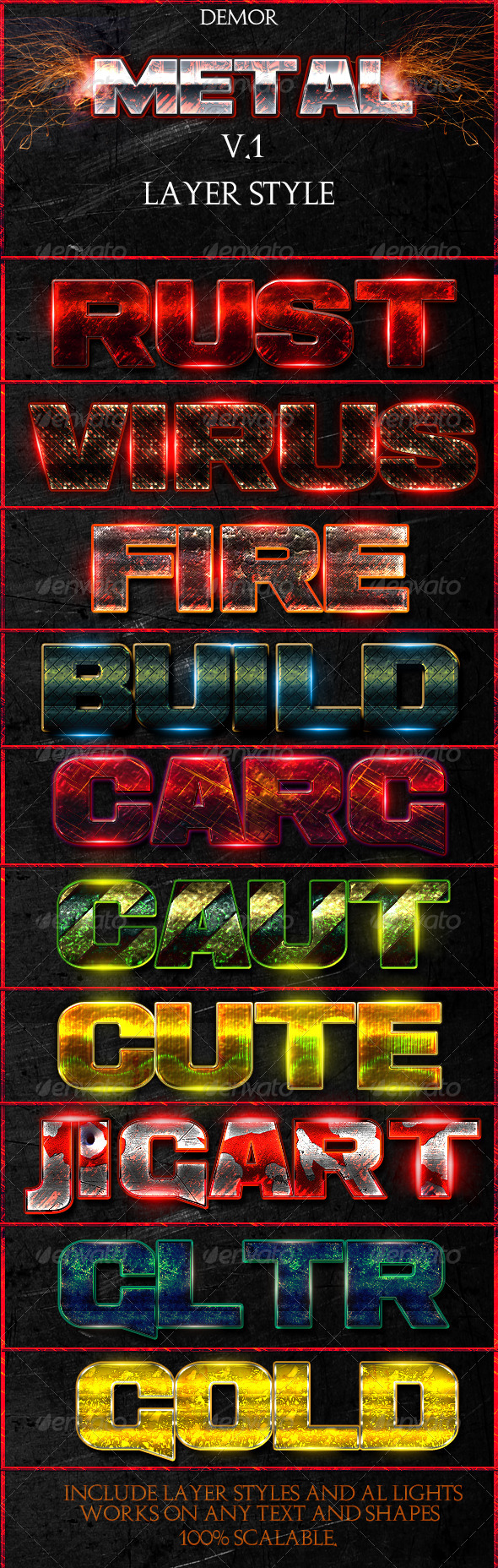 GraphicRiver Metal V.1 Layer Style 5775503