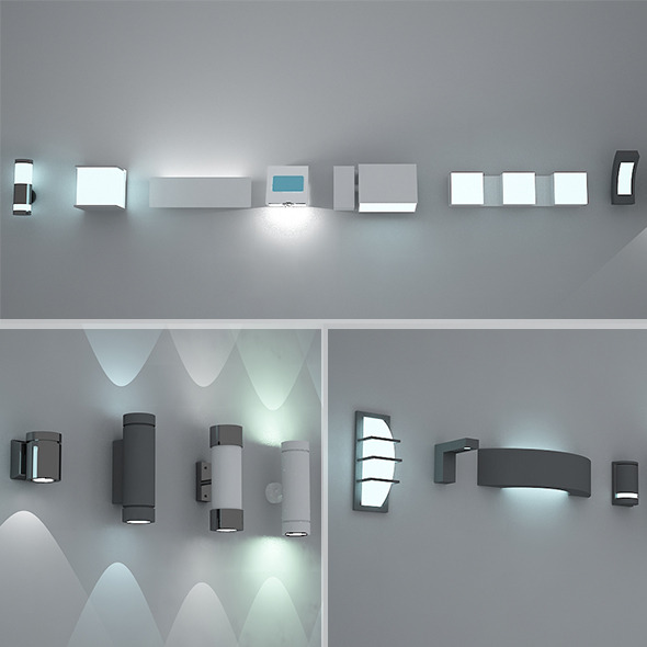 Exterior Interior lights Pack 1 VRay Max 2011