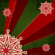 Christmas Snowflake on Green Red Retro Background - GraphicRiver Item for Sale
