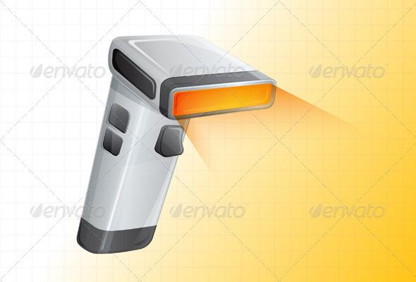 GraphicRiver Barcode Scanner Illustration 5775894