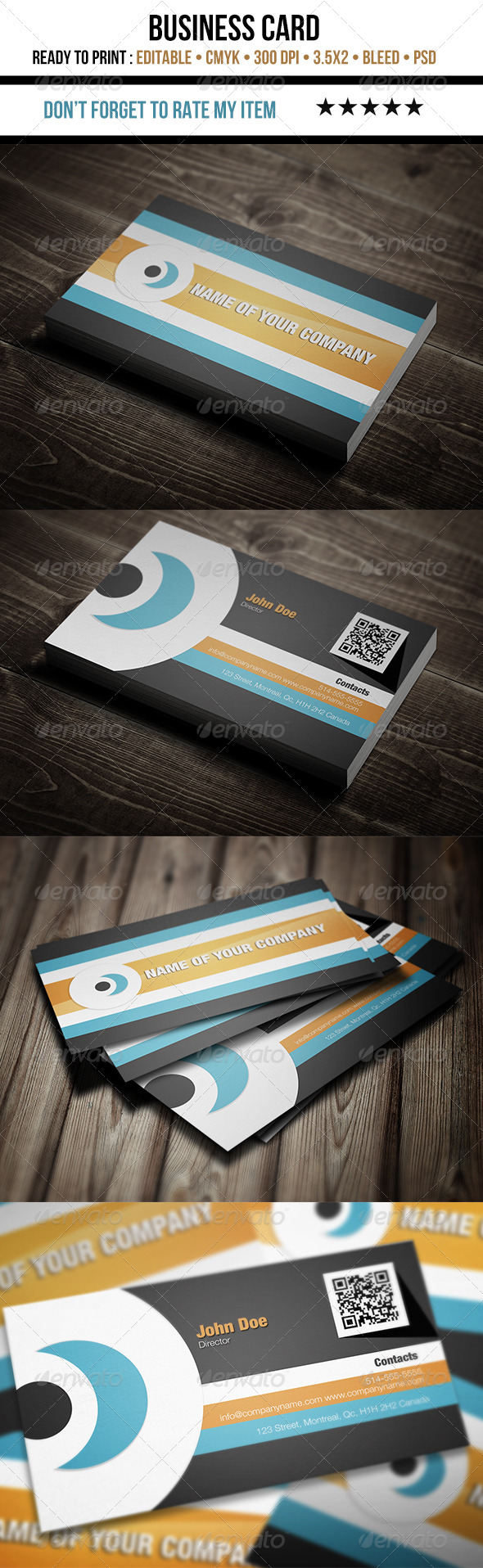 GraphicRiver Corporate Flat Design Business Card 5532747