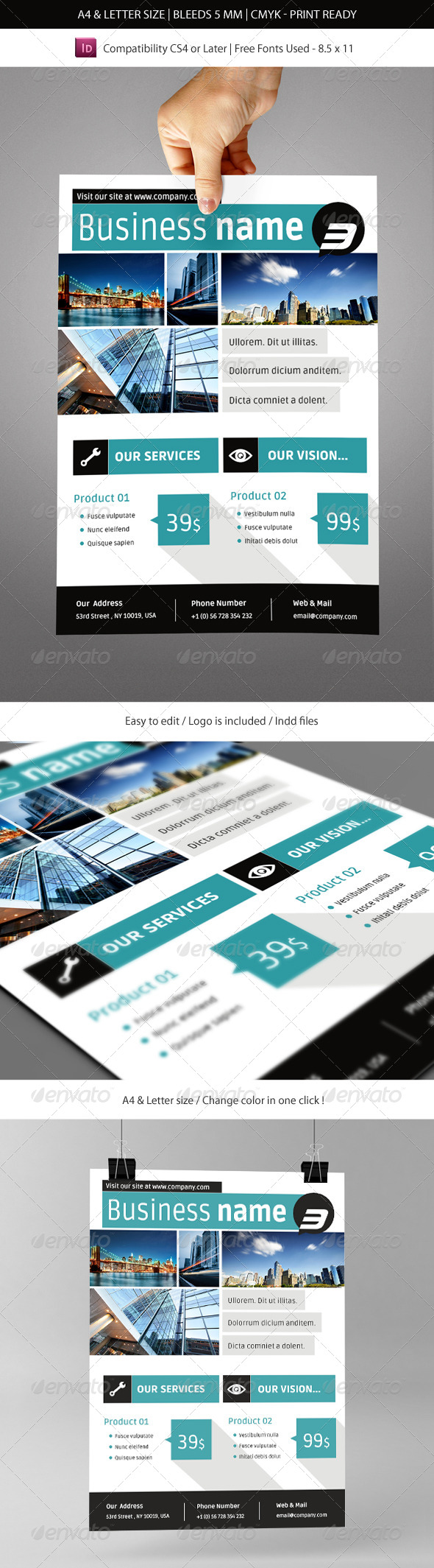 GraphicRiver Corporate & Business Commerce Flyer Template 5775964