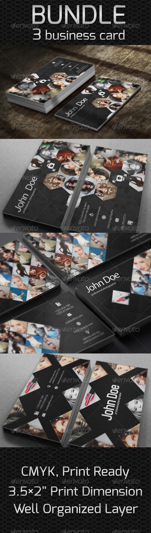 GraphicRiver 3 Business Card Bundle 5776015
