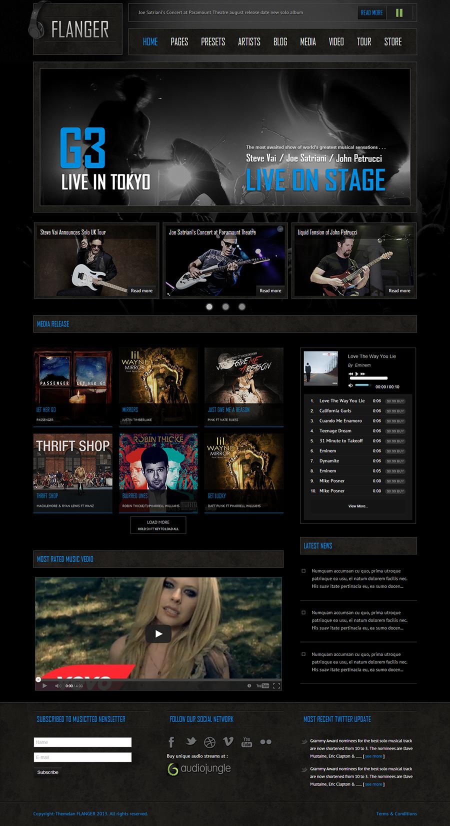 FLANGER - Responsive Joomla Music & Bands Template