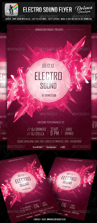 GraphicRiver Electro Sound Flyer 5776169