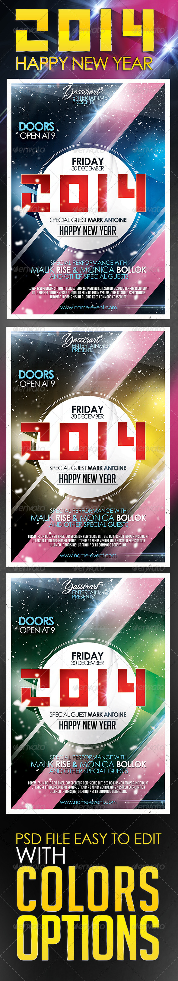 GraphicRiver Happy New Year Party Flyer Template 5776181