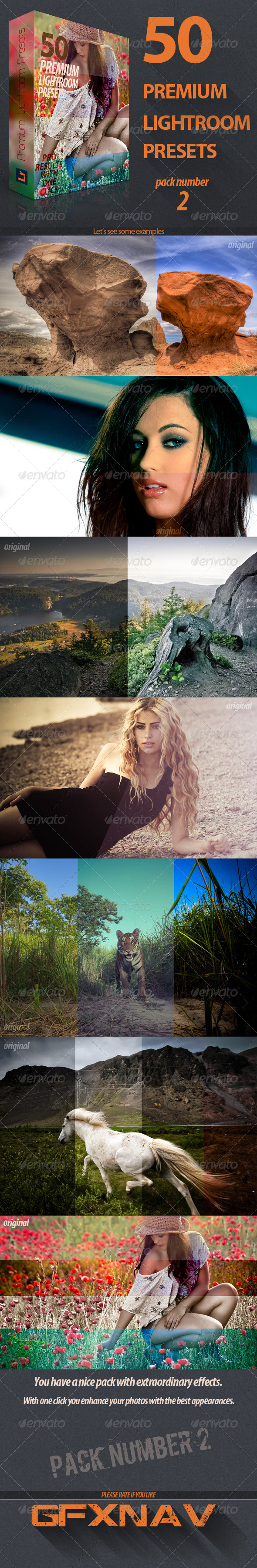 GraphicRiver 50 Premium Lightroom Presets Pack No2 5776208