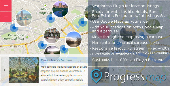 CodeCanyon Progress Map Wordpress Plugin 5581719