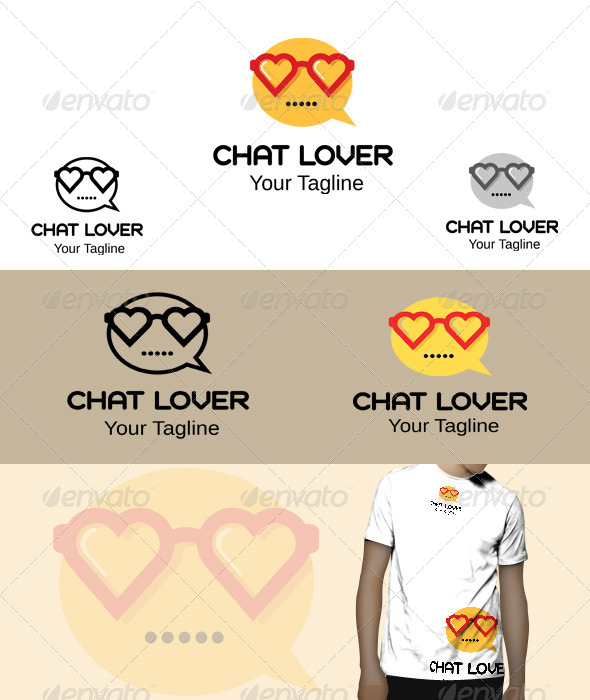 GraphicRiver Chat Lover Logo 5776836