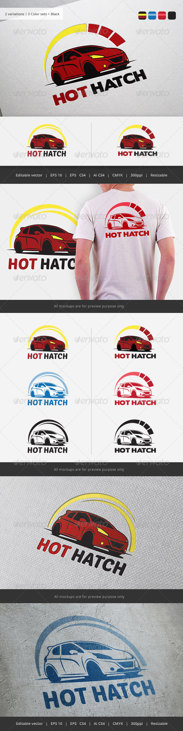 GraphicRiver High Performance car Logo 5776930