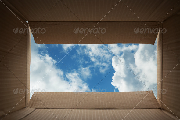 Think Outside the Box - Stock Photo - Images