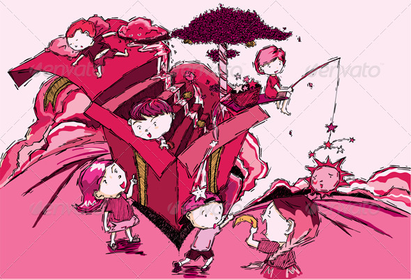 GraphicRiver The Kids of my Pink Dream 5777110