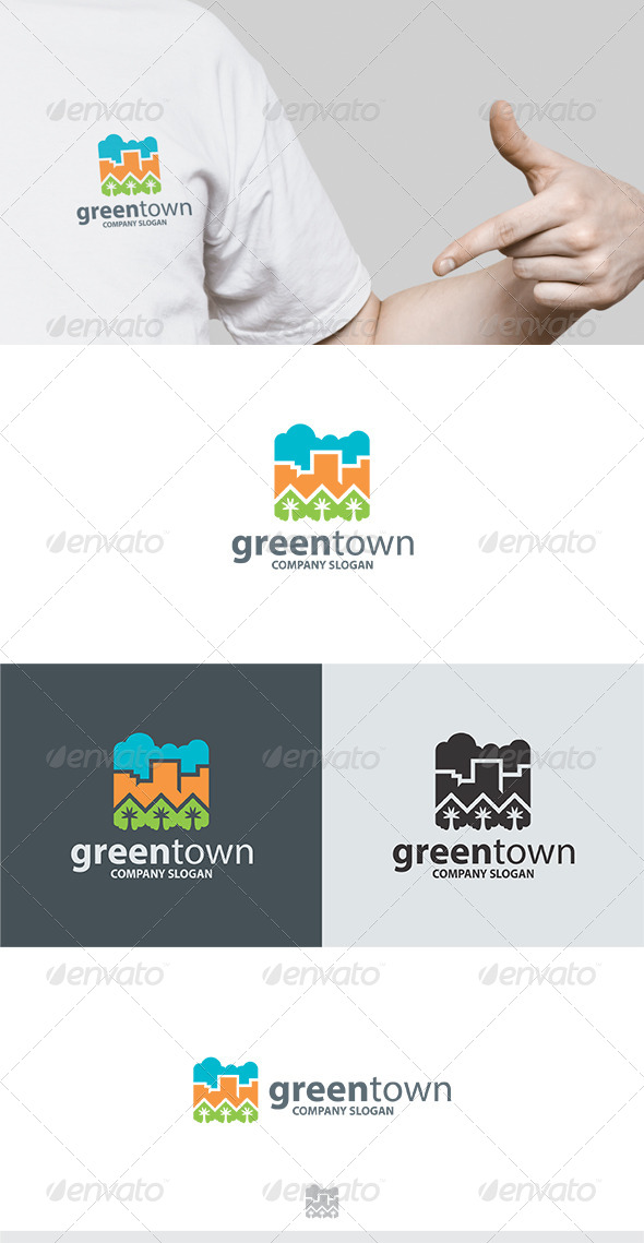 GraphicRiver Green Town Logo 5777109