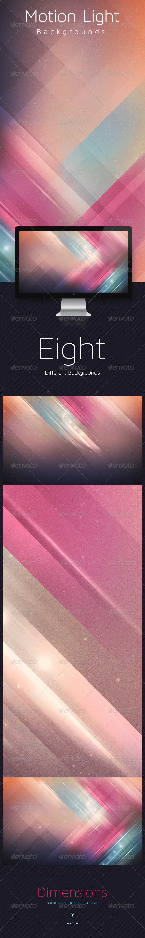 GraphicRiver Motion Light Backgrounds 5778659