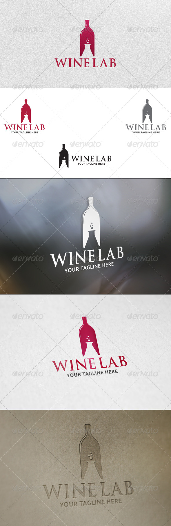 GraphicRiver Wine Lab Logo Template 5778704