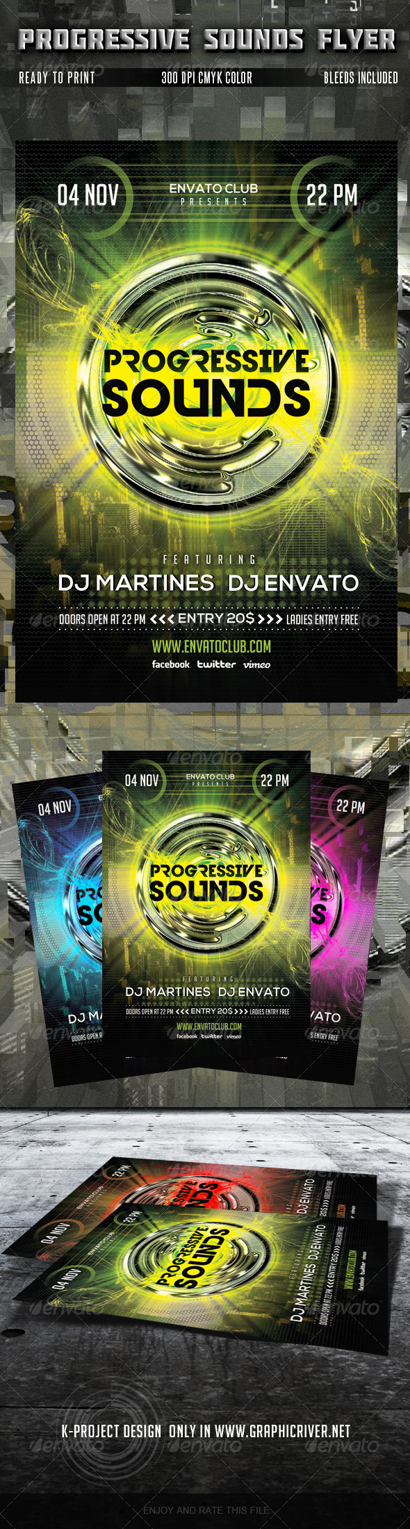 GraphicRiver Progressive Sounds Flyer 5779724