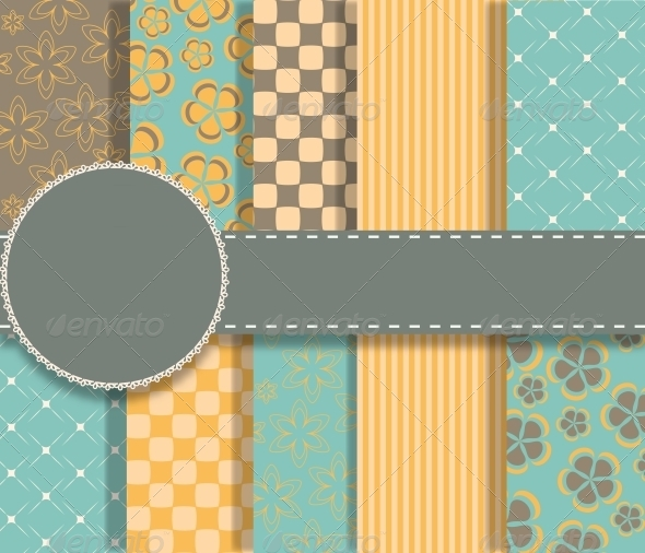 GraphicRiver Set of Vector Paper for Scrapbook 5780015