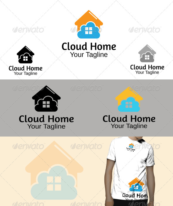 GraphicRiver Cloud Home Logo 5780146