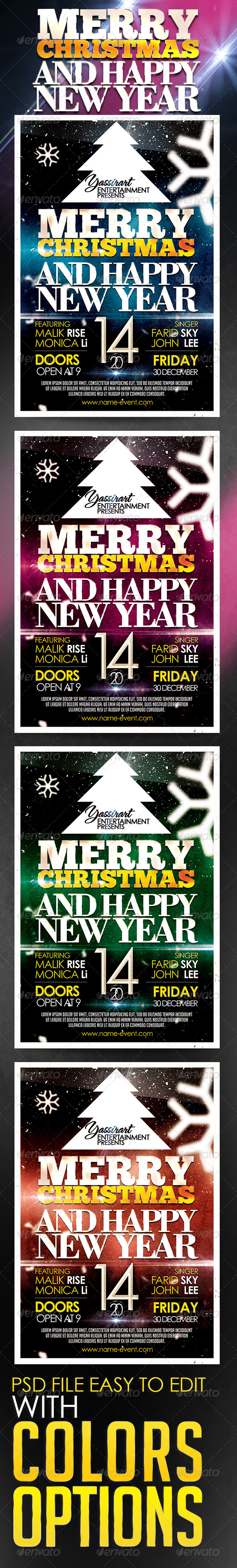 GraphicRiver Marry Christmas Party Flyer Template 5780408