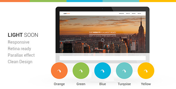 Light Soon Responsive Coming Soon Template (Under Construction) images