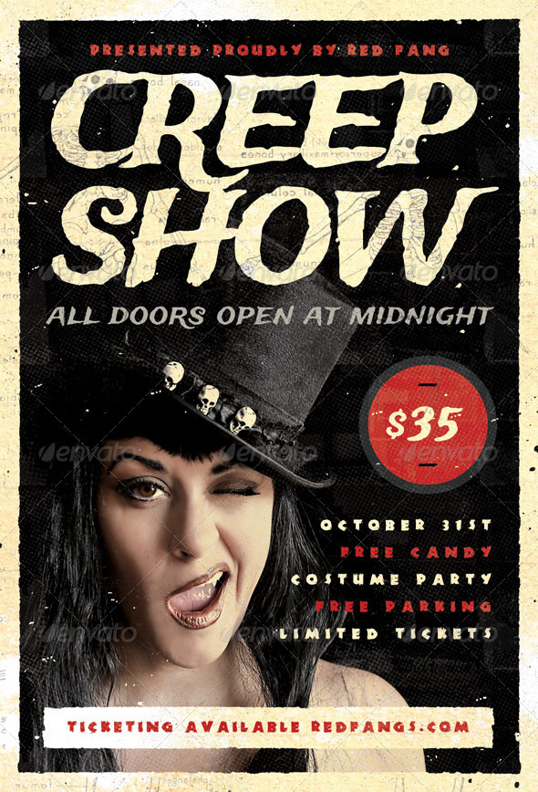 GraphicRiver Creep Show Halloween Flyer Template 5780830