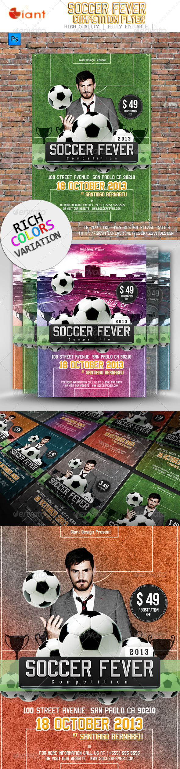 GraphicRiver Soccer Fever Competition Flyer 5781035