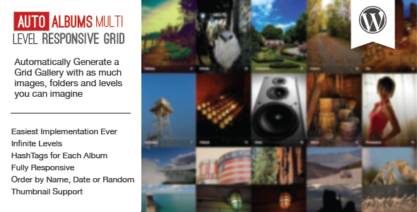 WP Auto Albums - Multi Level Responsive Grid