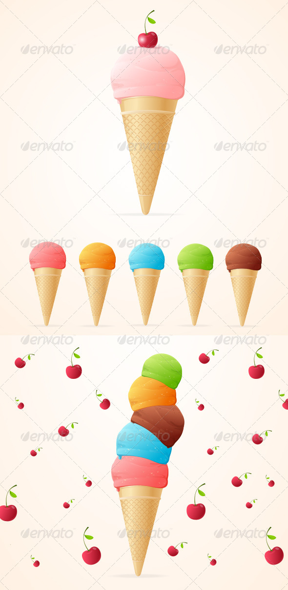 GraphicRiver Collection of Ice Cream 5781601