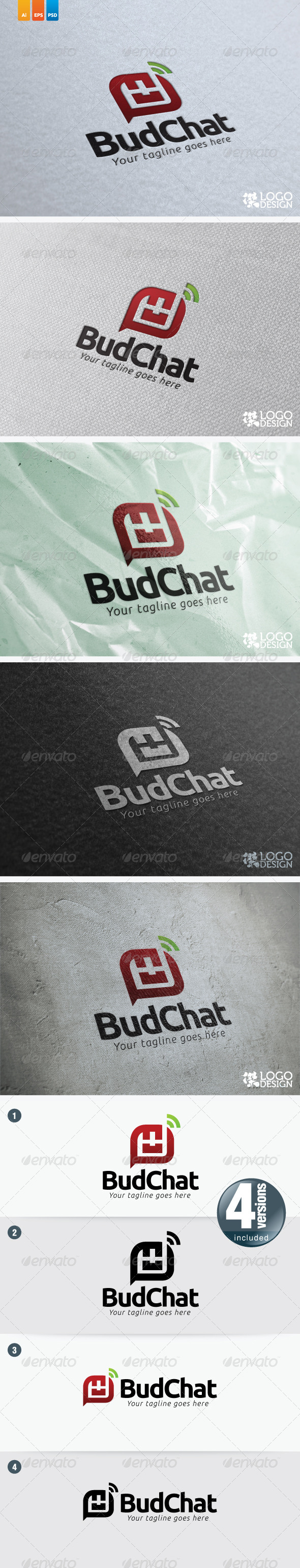 BudChat - Objects Logo Templates