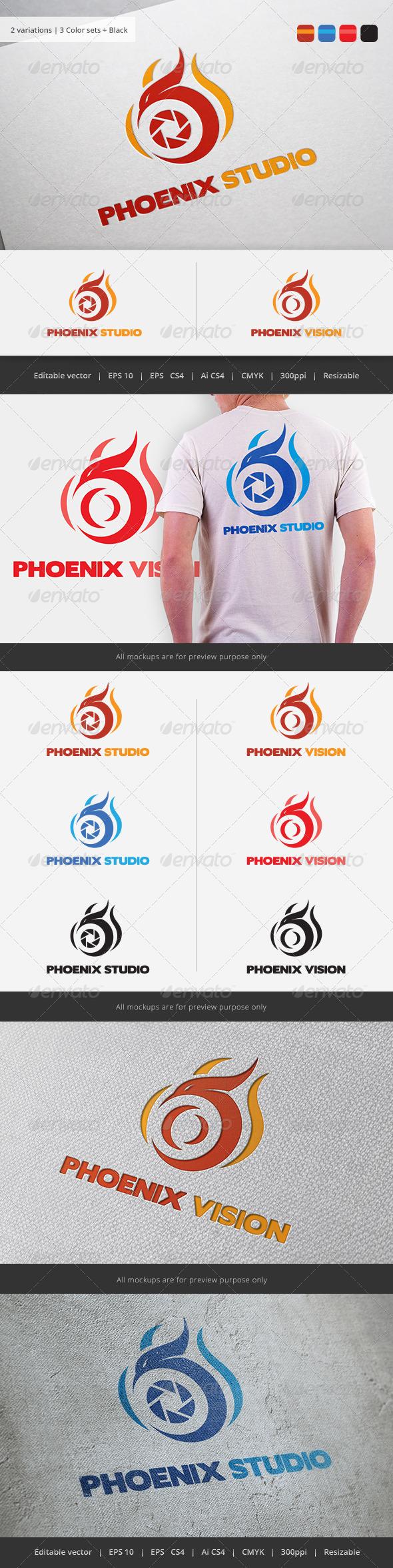 GraphicRiver Phoenix Vision Studio Logo 5781701