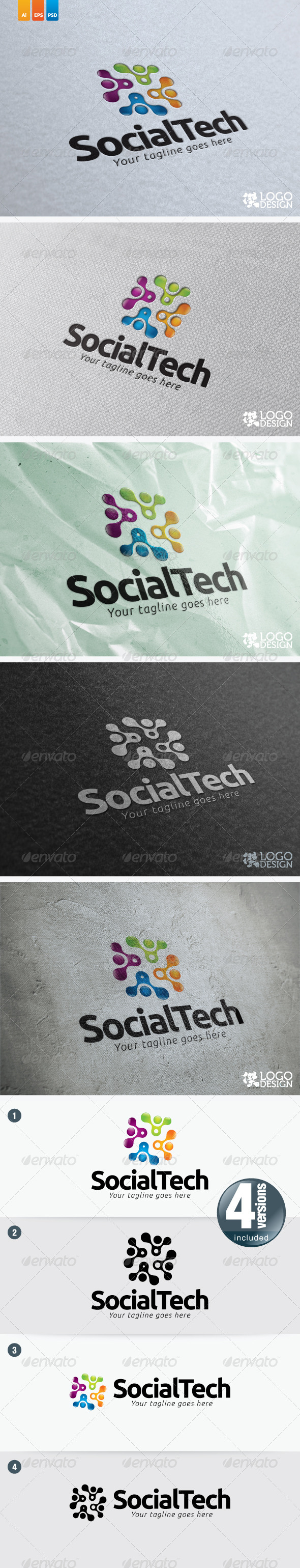 Social Tech - Objects Logo Templates