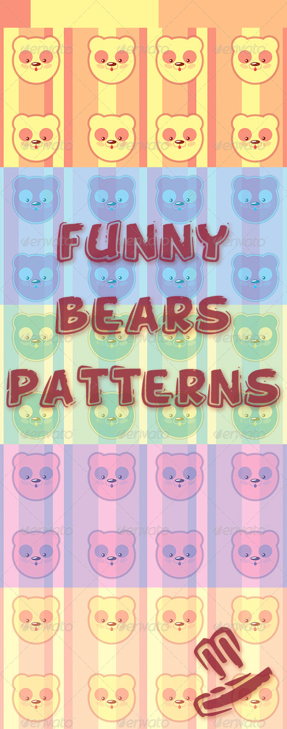 GraphicRiver Funny Bears Pattern 5781925