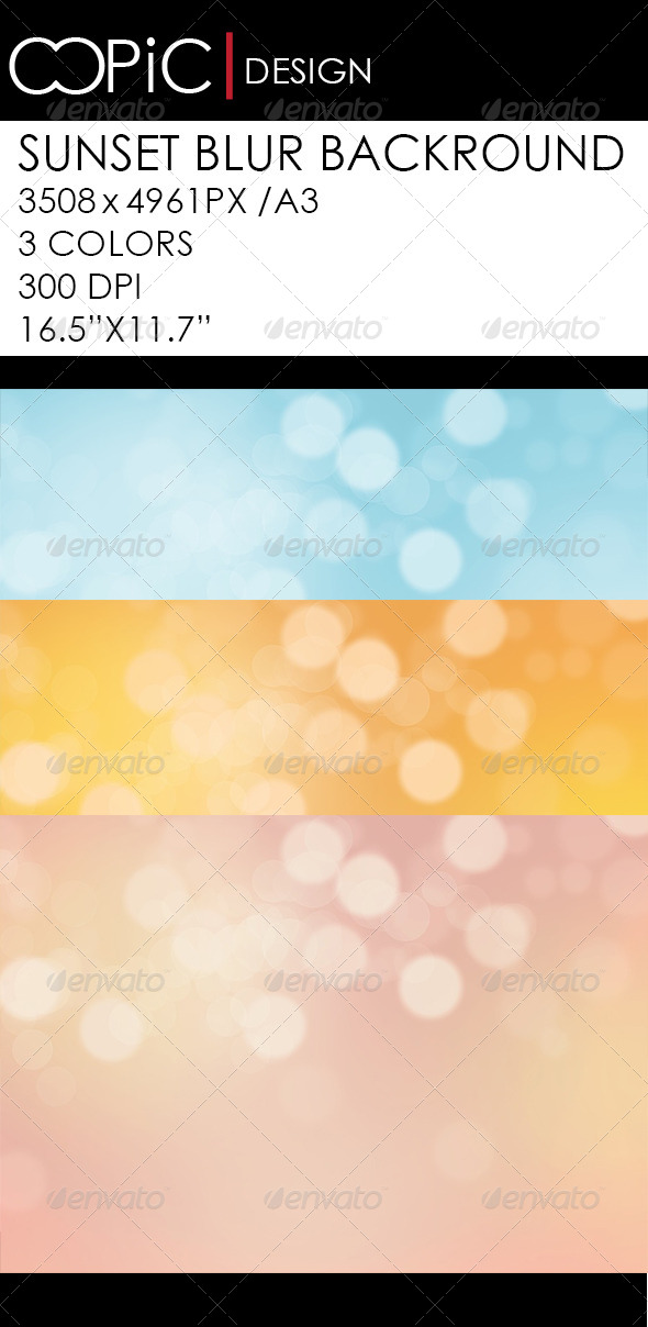 GraphicRiver Sunset Blur Backround 5782581