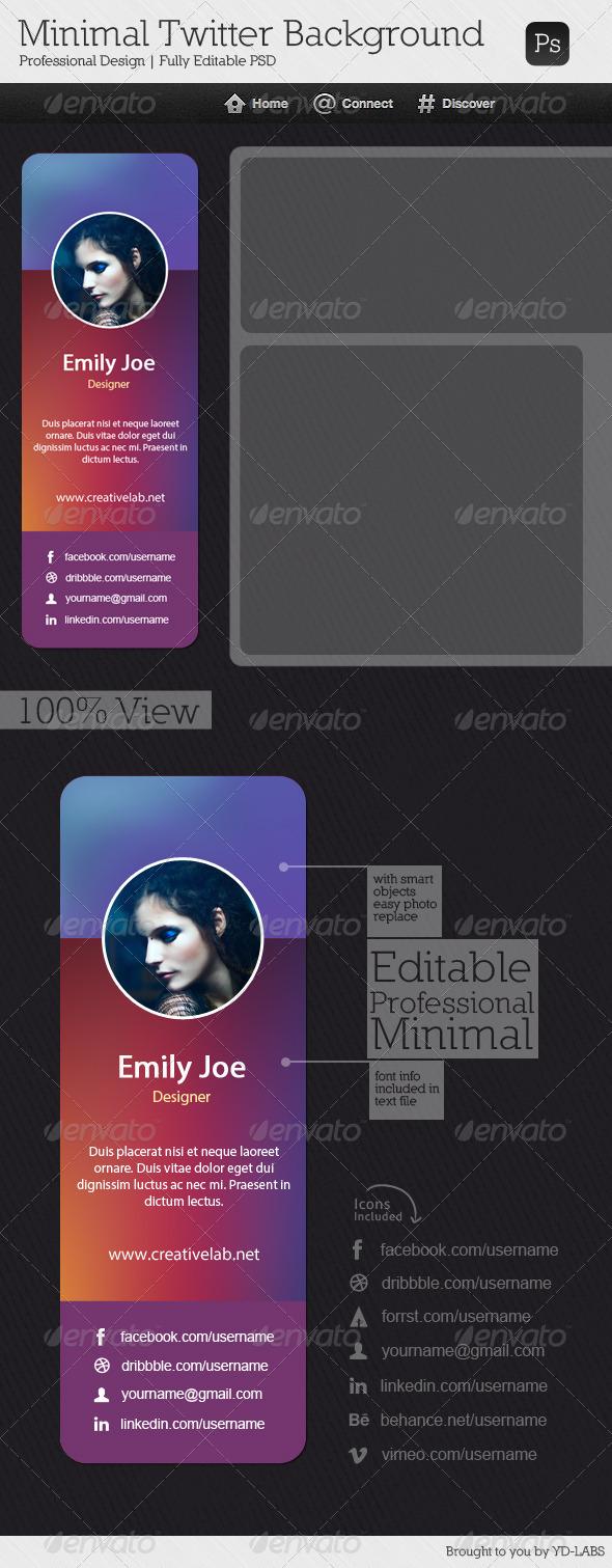 Minimal Twitter Background V8 - Twitter Social Media