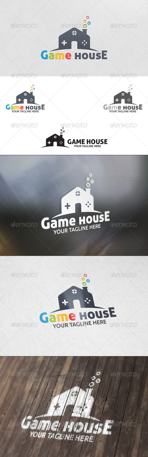 GraphicRiver Game House Logo Template 5783551