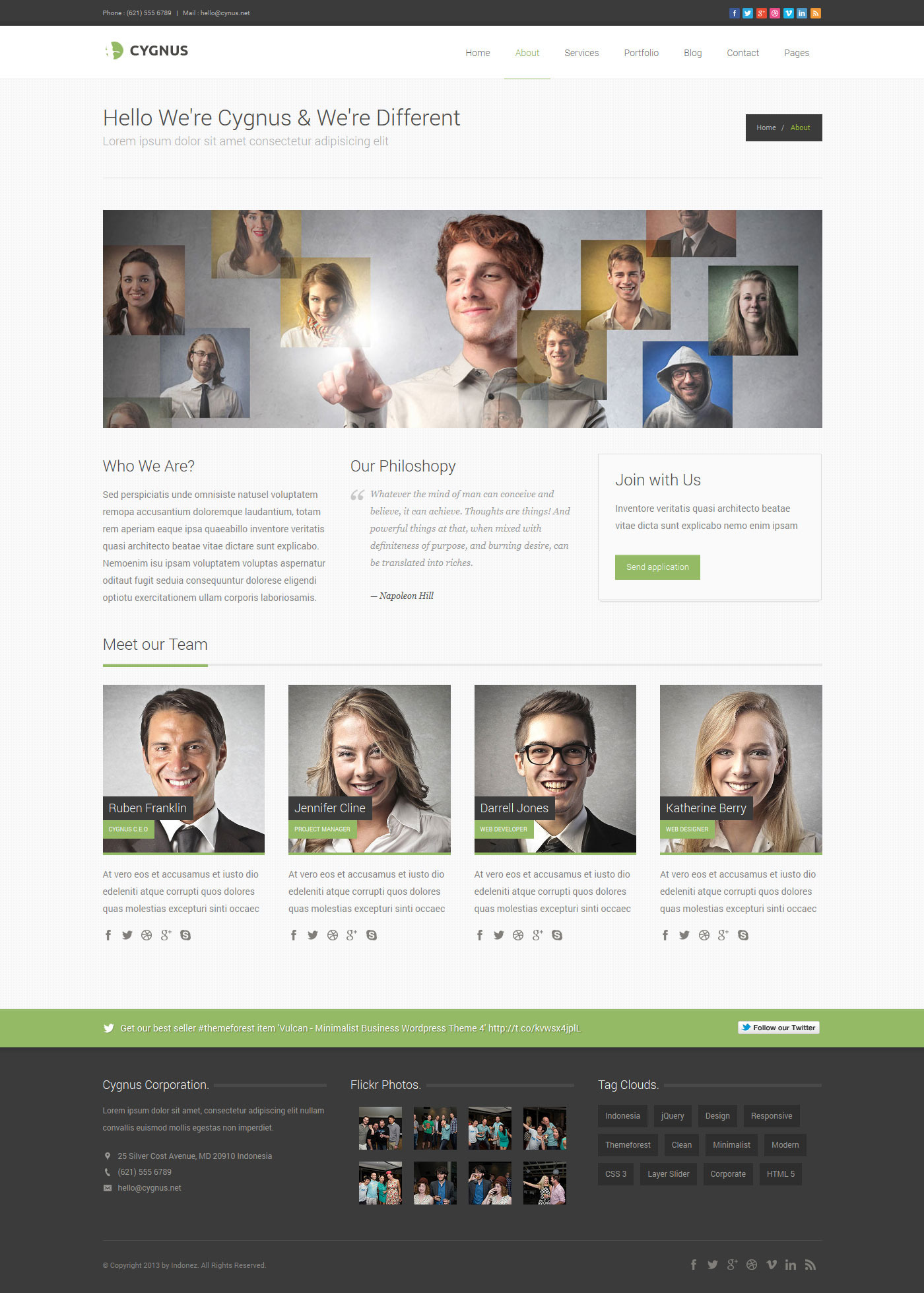 Cygnus - Minimalist Business Wordpress Theme 8