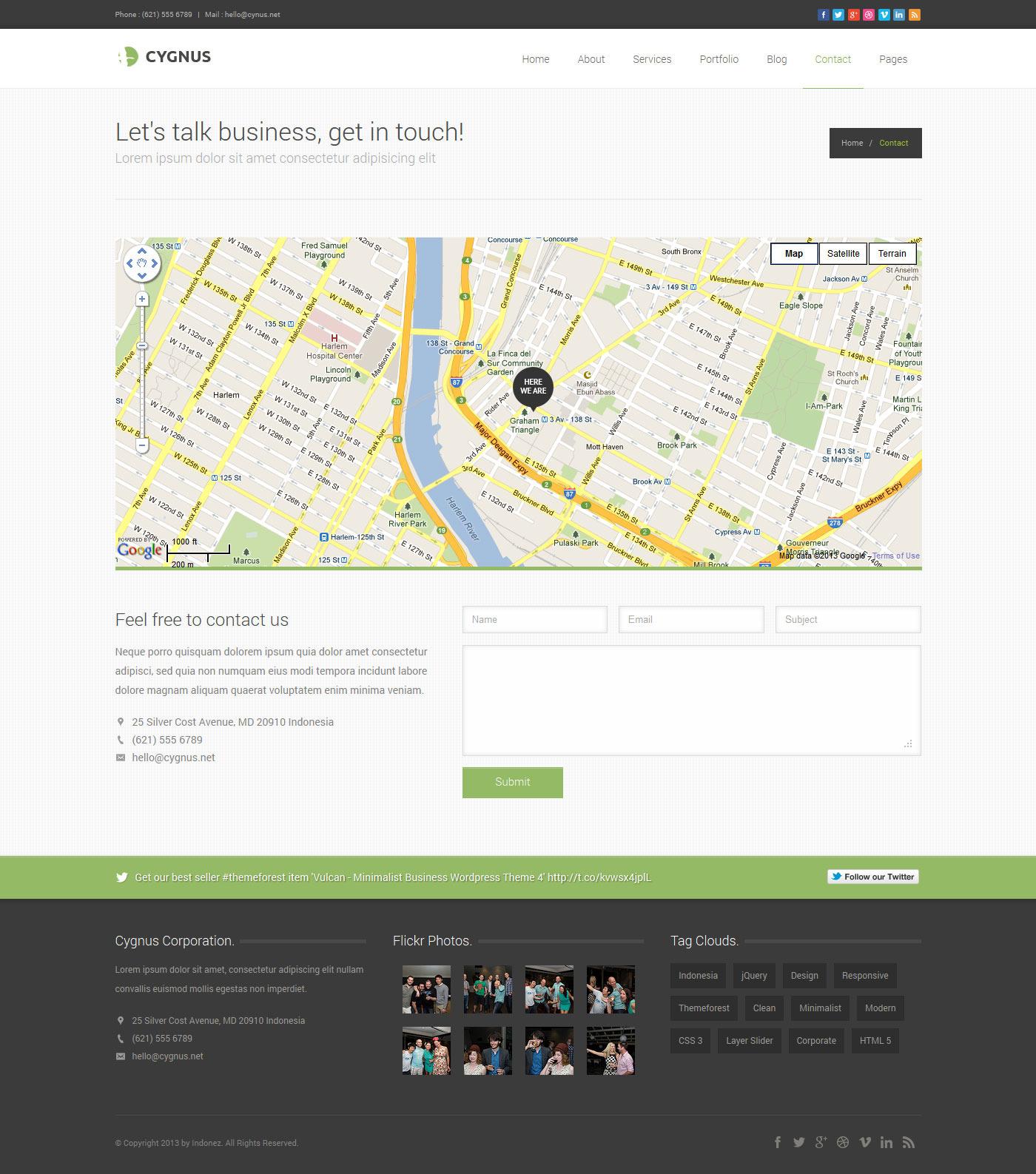 Cygnus - Minimalist Business Wordpress Theme 8