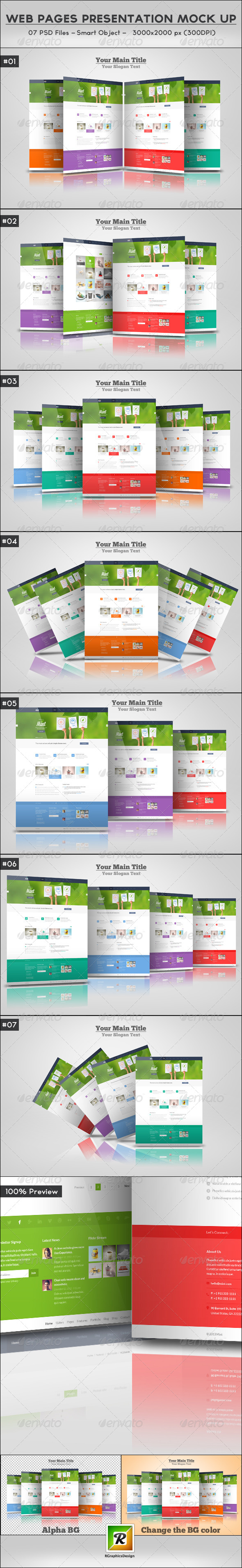 GraphicRiver Web Pages Presentation Mock Up 5784596