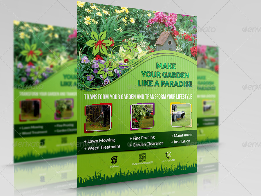 Garden services flyer template by owpictures graphicriver for Home gardening services